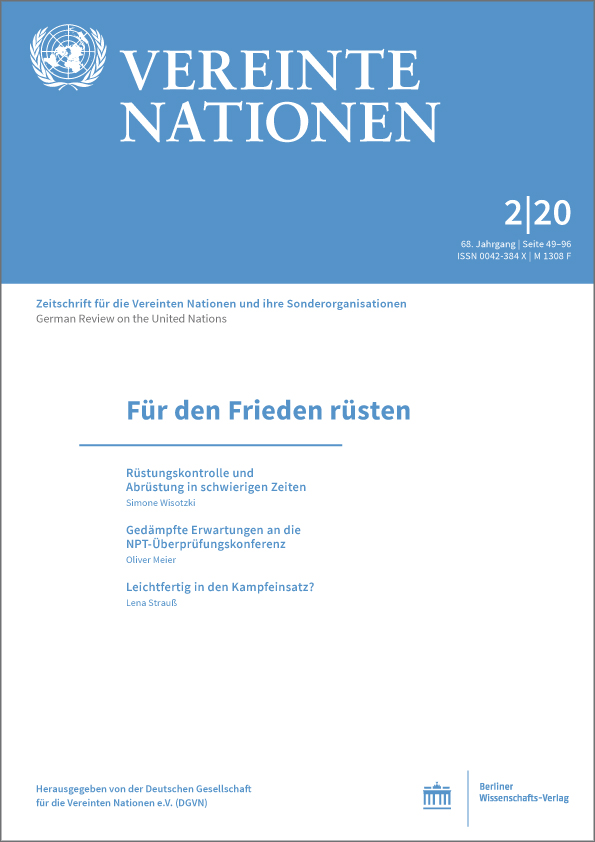 Logo:Vereinte Nationen 2/2020