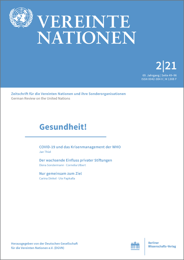 Logo:Vereinte Nationen 2/2021