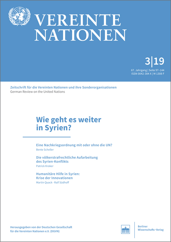 Logo:Vereinte Nationen 3/2019