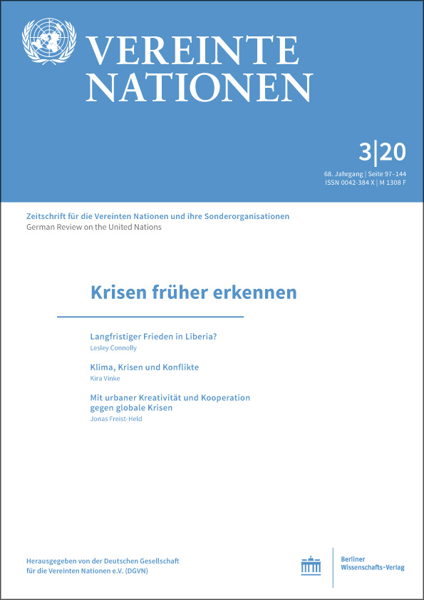 Logo:Vereinte Nationen 3/2020