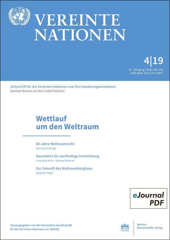 Logo:Vereinte Nationen 4/2019