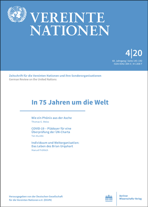 Logo:Vereinte Nationen 4/2020