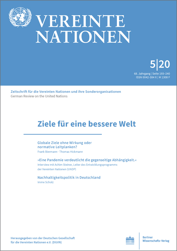 Logo:Vereinte Nationen 5/2020