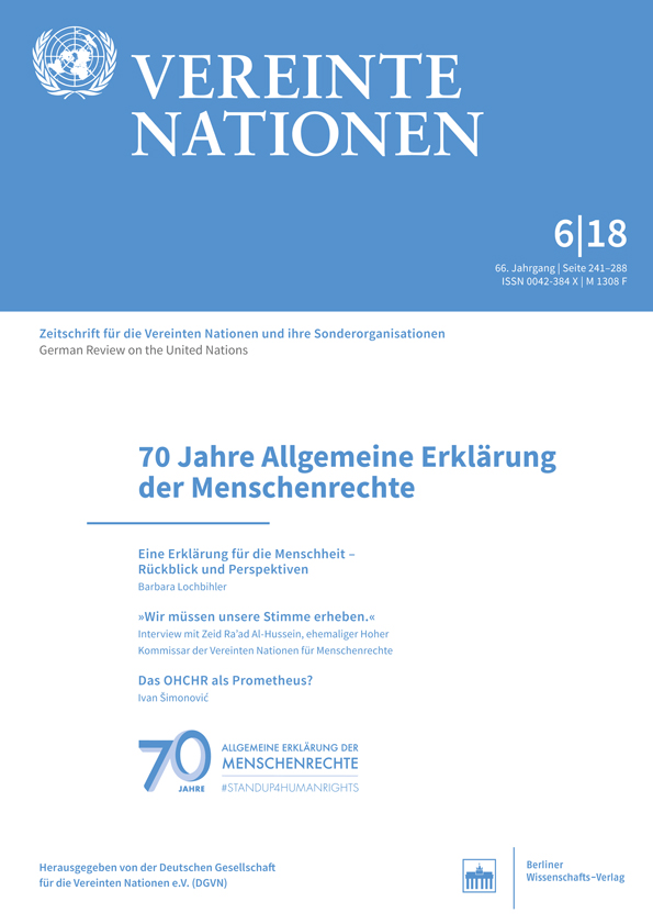 Logo:Vereinte Nationen 6/2018