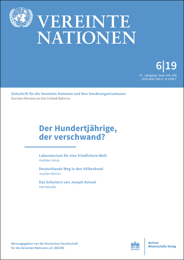 Logo:Vereinte Nationen 6/2019