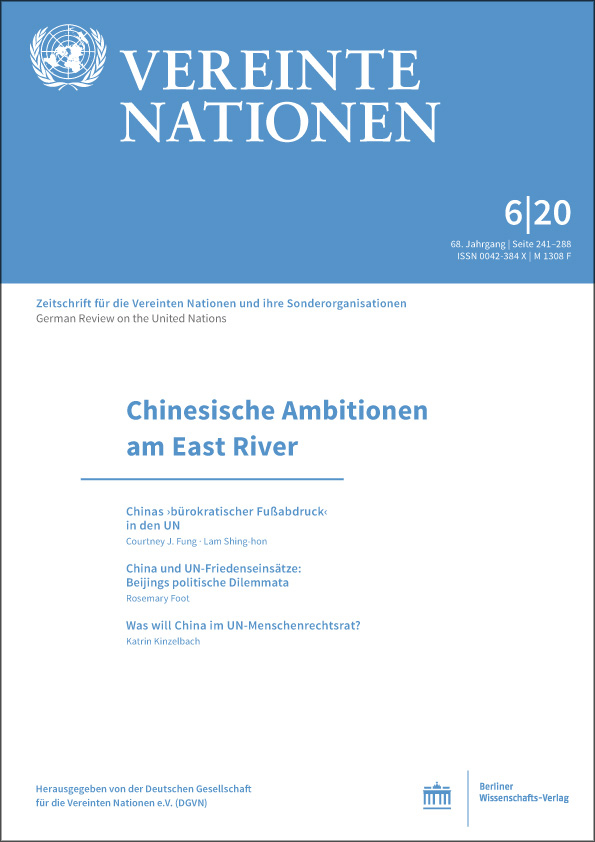 Logo:Vereinte Nationen 6/2020