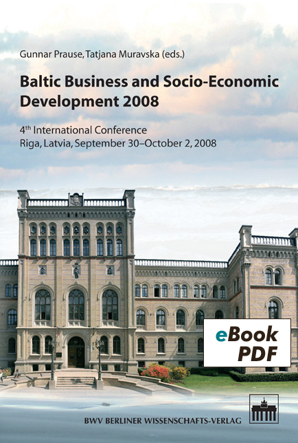 Baltic Business and Socio-Economic Development 2008